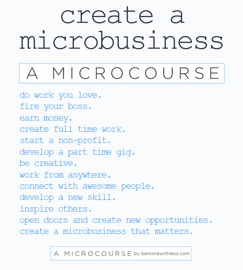 Create A Microbusiness That Matterssm