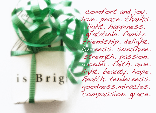 A Wish for Comfort and Joy