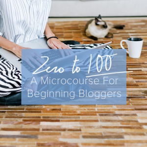 Zero to 100: a microcourse for beginning bloggers