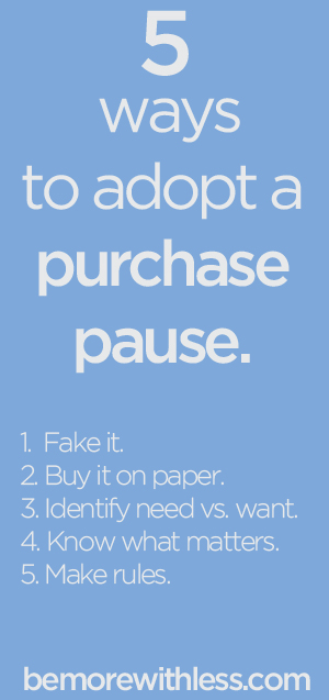 The Power of a Purchase Pause