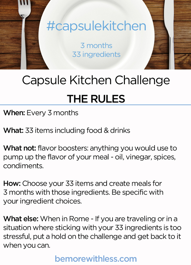 The Capsule Kitchen Challenge Rules