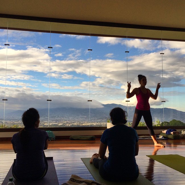 This teacher brought me back to yoga. (The view helped too)