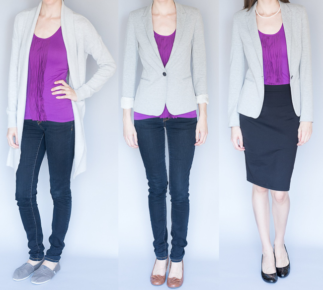 3 Ways to Dress a Capsule Wardrobe Up or Down