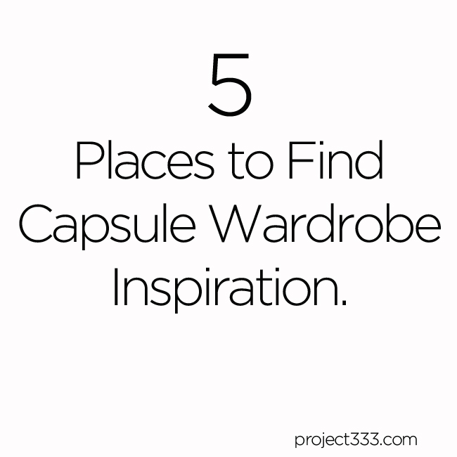5 Places to Find Capsule Wardrobe Inspiration