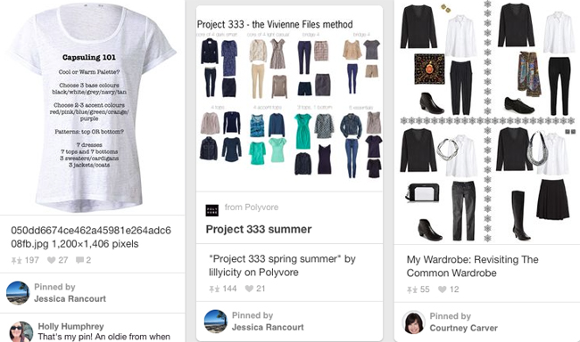 Project 333 on Pinterest