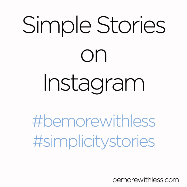 Simplicity Stories on Instagram