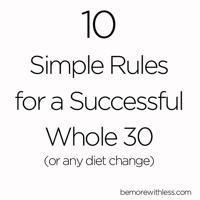 The whole 30 challenge