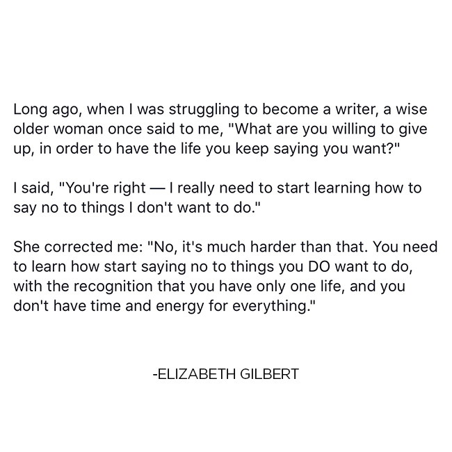 Elizabeth Gilbert Quote