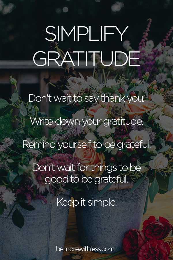 Simplify Gratitude A Short And Sweet Guide To Saying Thank You