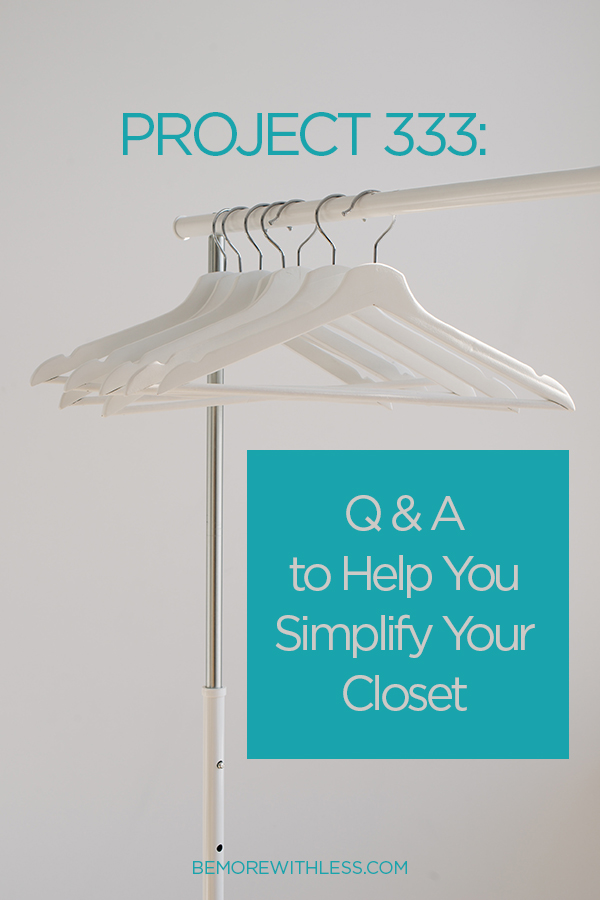 Simplify Your Closet
